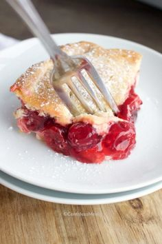This Cherry Cream Cheese Dessert is the perfect recipe to keep on hand for last minute guests or just when your dessert craving hits! The ingredients are so simple and combine easily, everyone will think you spent hours in the kitchen - but only you will know the truth! #centslessmeals #cherrycreamcheesedessert #cherrycreamcheesebars #cherrycreamcheesepie #cherrycreamcheesebake #dessert #easydessert #dessertbars Cherry Cream Cheese Bake Recipe, Cream Cheese Bars, Cream Cheese Desserts, Cherry Desserts, Easy Desserts, Delicious Desserts, Dessert Recipes, Rib Recipes, Sweet Recipes