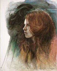 imagen creaad porSteven Assael  lápiz de color  sobre papel esta imagen se ha generado por medio de adición de pigmento.