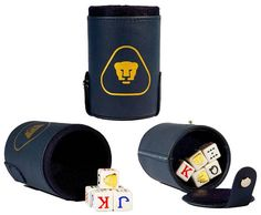 PUMAS UNAM Cubilete Poker Dice Shaker Cup Game Party Gift