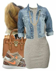 Michael michael kors, nike, nly trend and modstrã*m dope swag outfits, casu Dope Outfits, Swag Outfits, Stylish Outfits, Fall Outfits, Summer Outfits, Fashion Outfits, Womens Fashion, Fashion Trends, Jean Shirt Outfits