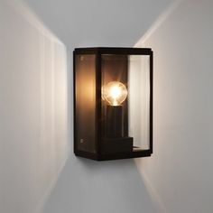 Astro Homefield 130 Outdoor Wall Light - Black - Lighting Direct