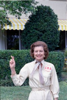 """""""It is my personal opinion that ratification of the ERA is the single most important step that our nation can take to extend equal opportunity to all Americans."""" - First Lady Betty Ford (photo: The Ford Library)"""