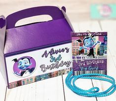Vampirina Vip style invites and favor boxes for A'Livia's 3rd birthday 😍💕 www.ittybitsdesigns.com Vampirina party, vampirina birthday party, vampirina decor, vampirina party decor, vampirina birthday ideas Birthday Party Favors, 3rd Birthday, Birthday Ideas, Birthday Parties, Party Themes, Party Ideas, Favor Boxes, Twinkle Twinkle, Vip