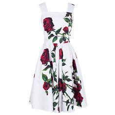 Vintage Sleeveless Square Neck Floral Print Women's Dress #women, #men, #hats, #watches, #belts, #fashion