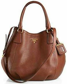 b13604abe1b4a Prada Daino Convertible Satchel in marrone-brown Más Supernatural Styl.  Ethel Robis-Fortaleza · leather bags and purses