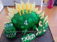 Coolest Dinosaur Birthday Cake... This website is the Pinterest of birthday cake ideas