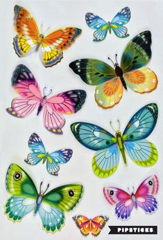Puffy stickers are usually fun and cute, but these instead are beautiful and breathtaking. The puffiness adds life to the butterflies, which are full of color and sparkle!  http://blog.pipsticks.com/puffy-stickers/ #puffystickers #stickers #planner #kawaii