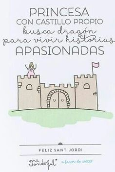 Frases para el día de Sant Jordi Mr Wonderful.