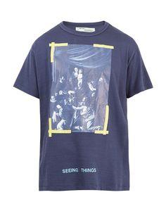 OFF-WHITE Caravaggio-Print Cotton T-Shirt. #off-white #cloth #t-shirt