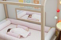 Montessori floor bed, mirror