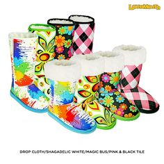 "Dawgs Women's Loudmouth Printed 13"" Sherpa Boots - Assorted Styles"