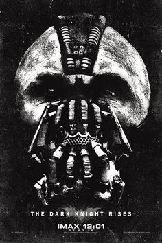Dark Knight Rises poster that will be handed out at midnight for IMAX showings. Where am I supposed to hang this? On the ceiling above my bed so I can look up at it every night before I go to bed? This is one FREAKY dark poster.