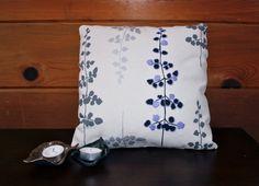 Lavender Fern Hand Embroidered Decorative Pillow Sham by KHCrafts