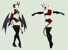OUtfit Adopt - Seductive Demoness - SOLD by ShadowInkAdopts on DeviantArt Manga Clothes, Drawing Anime Clothes, Clothing Sketches, Dress Sketches, Fashion Design Drawings, Fashion Sketches, Character Outfits, Character Art, Poses References