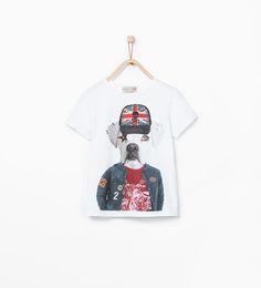 ZARA的图片 1 名称 狗圖案和飾釘 T 恤