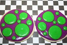 "The Cookie Mama: Polka Dot ""Barney"" Cookies"
