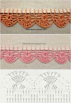 10 Steps to Learning How to Crochet Crochet Border Patterns, Crochet Lace Edging, Crochet Designs, Crochet Doilies, Crochet Stitches, Crochet Baby, Knit Crochet, Filet Crochet, Crochet Magazine