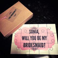 Will you be my Bridesmaid Jigsaw - 21 Inspiring Inspirations - www.weddzer.com