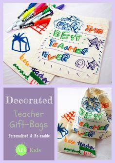 Teacher Gift Bags : Artful Adventures