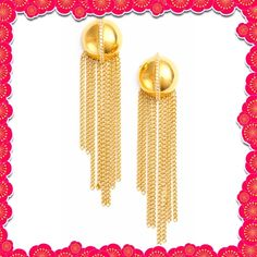 Authentic Rachel Zoe Remy Fringe Earrings % AUTHENTIC ✨ Gorgeous Remy fringe dangling earrings from Rachel Zoe  Post back. Gold tone plate/cubic zirconia. Pristine, never used. Glamorous NO TRADE  Rachel Zoe Jewelry Earrings