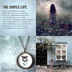 This simple life Beautiful Collage, Life Is Beautiful, Beautiful Words, Quote Collage, Fashion Souls, Evening Greetings, Pot Pourri, Love Aesthetics, Collages