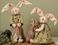 country primitive easter bunnies