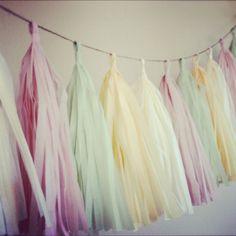 Je t'aime  tissue paper tassel garland // nursery // by PomLove, $30.00