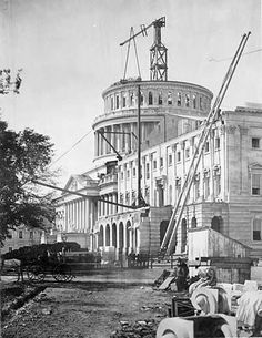 US Capitol, Washington, DC under construction in... - Historical Times