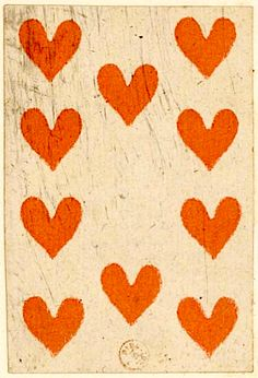 ♥Would make a great table runner, adapt to the length you need, applique hearts.