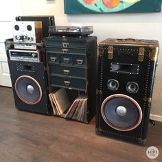 The HiFi Case - Record Player Speaker Trunk