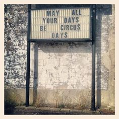Things you say in circus towns. Photo by daycathy • Instagram