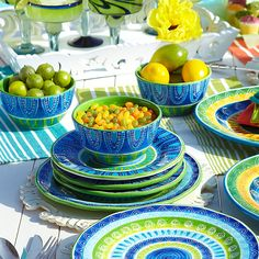 Cortez Dinnerware for a colorful tablescape