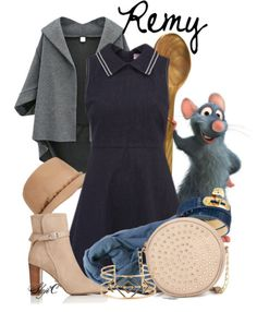 Remy - Disney Pixar's Ratatouille by rubytyra featuring a denim dress