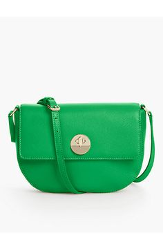 0468cbda8b Pebbled Leather Saddle Bag - Talbots Leather Saddle Bags, Modern Classic,  Talbots, Classic