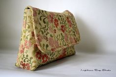 Diaper Bag / BridesmaidWedding Clutch  Floral by Lighthousebags, $25.00
