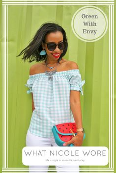 Green Gingham for Summer Style | Kentucky Fashion Blogger