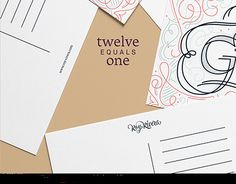 twelve equals one is a self-initiated project that consists in designing one postcard per month. The concept behind it is simple, twelve love messages from the one who loves us unconditionally, Jesus.  http://be.net/gallery/54102317/twelve-equals-one