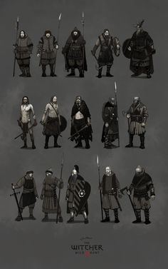 skellige clans, Jan Marek on ArtStation at https://www.artstation.com/artwork/Qx3wx