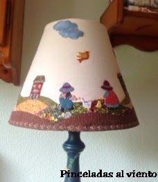 Lámpara decorada