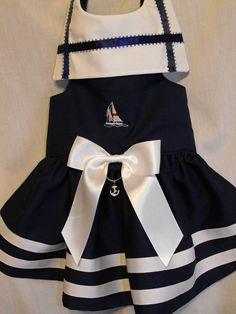 Sailor dress  3 navy by dressmeupscottie on Etsy