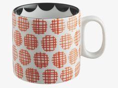 ESMERALDA Red dot patterned mug