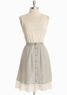 Misty Morning Striped Dress | Modern Vintage New Arrivals