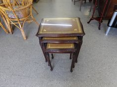 Glass Topped Nest Of Tables In RGF's Showroom £15 (PC570)