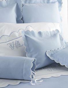 Matouk Diamond Pique Bright Matelasse Coverlets Shams Monogram Bedding Fine Linens Matouk