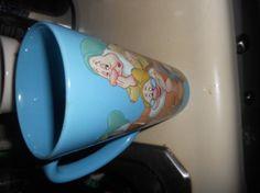 Vintage large Disney mug over sized mug blue by EMTWTT on Etsy, $20.00