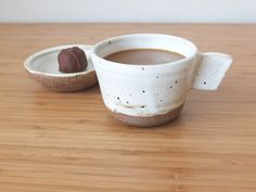 Handmade Ceramic Coffee Mug with Lid Plateコーヒーカップセット