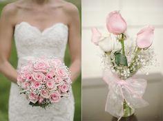 Pink bouquet #wedding #flowers