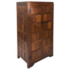 "Robert ""Mouseman Thompson Panelled Oak Wardrobe"