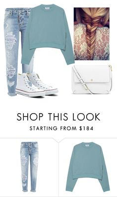 """""""At the mall"""" by zryleez ❤ liked on Polyvore featuring Dsquared2, Acne Studios, Converse and Tory Burch"""