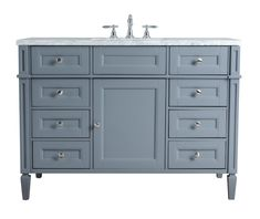 Stufurhome Gray Single Sink Bathroom Vanity with Carrara White Natural Marble Top at Lowe's. Add French flair to your bathroom with the Anastasia vanity! Looking to upgrade your bathroom with a beautiful vanity. Look no further than the Anastasia, White Vanity Bathroom, Marble Vanity Tops, Single Sink Bathroom Vanity, Single Bathroom Vanity, Vanity Sink, Bathroom Vanities, Marble Top, Carrara Marble, White Marble